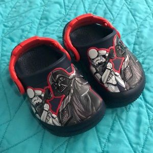 NWOT size 5 toddler Star Wars crocs